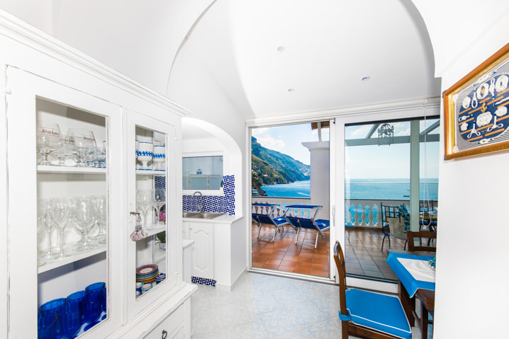 Appartamento in affitto Costiera Amalfitana Stella con vista su Positano