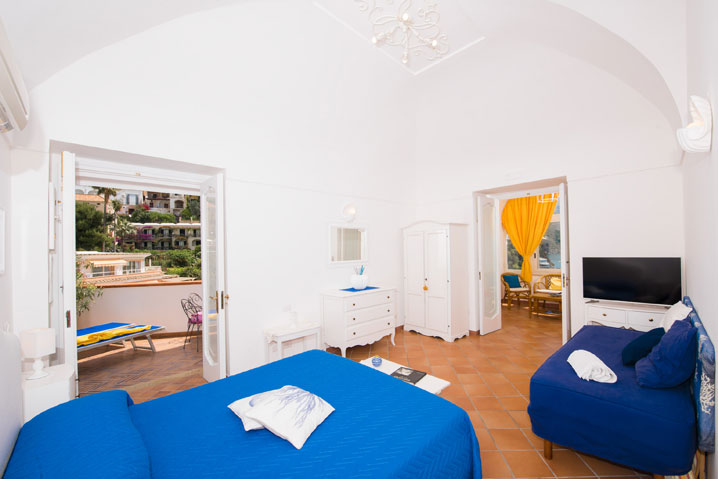 camera matrimoniale appartamentoPositano Mimosa