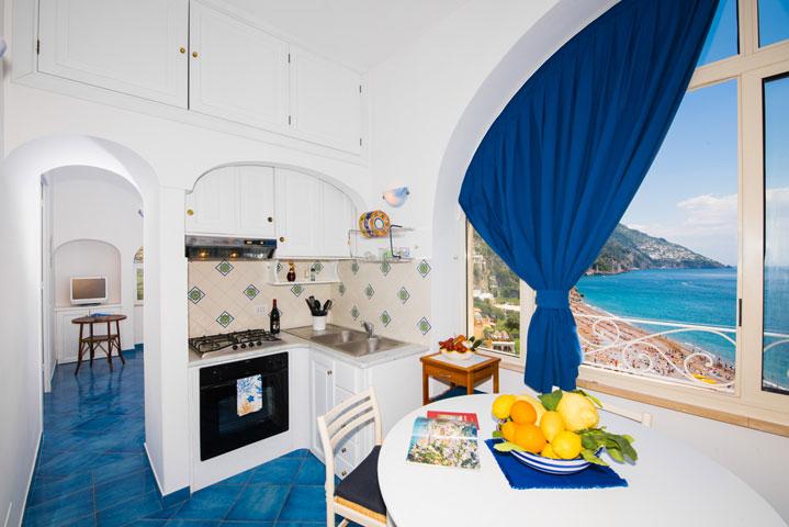 Cucina Appartamento in affitto Positano Oceano